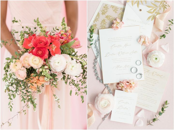 Flowers and invitations