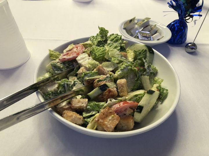 Family style caesar salad