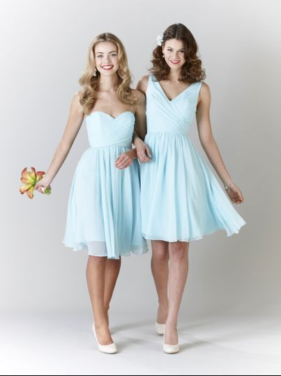 21f0373b642 ... Kennedy Blue bridesmaid dress Addison (left) and Chloe (right) in Mint.