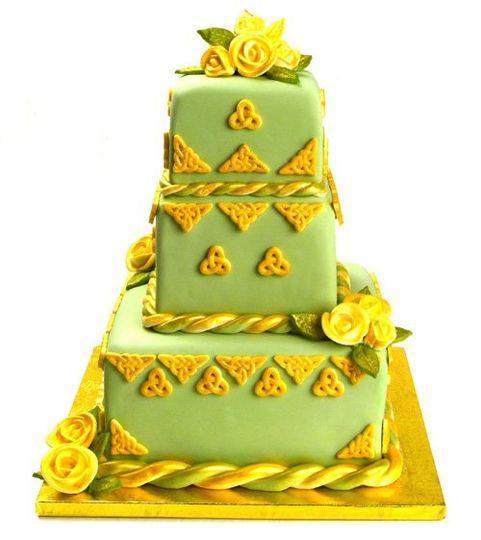 weddingcakegreen gold DI 281 29