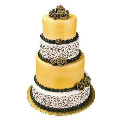 Tmx 1213752335730 WeddingcakeFancy Swirl 3 Wingdale wedding cake
