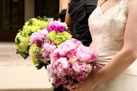 Pink and green combination