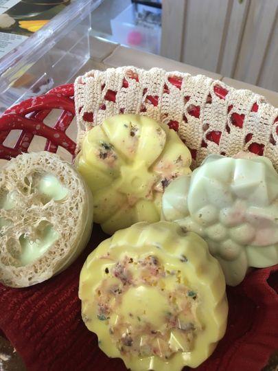 Loofah soaps