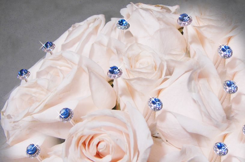Blue Button Bouquet Jewelry.  We carry a full range of colors and styles.