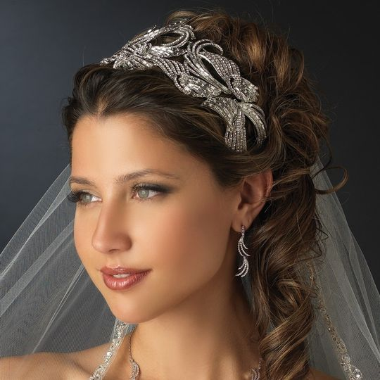 We offer tiaras and headpieces.