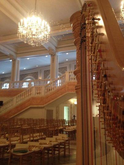 Harp at the hall