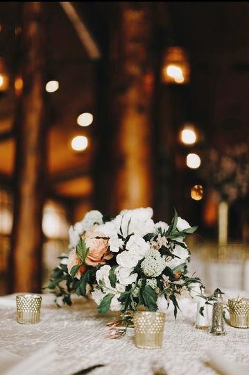 Pink and White Flower Wedding