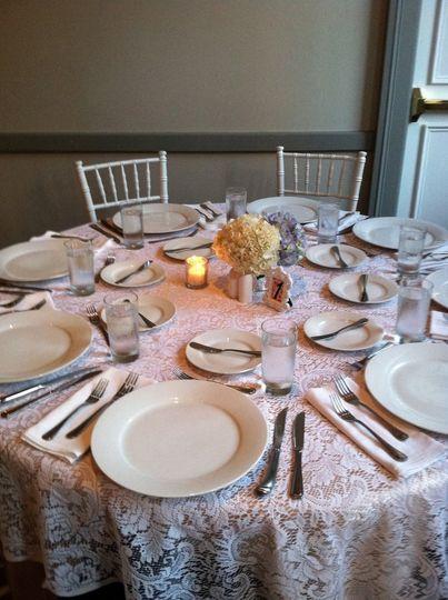 Vintage table arrangements
