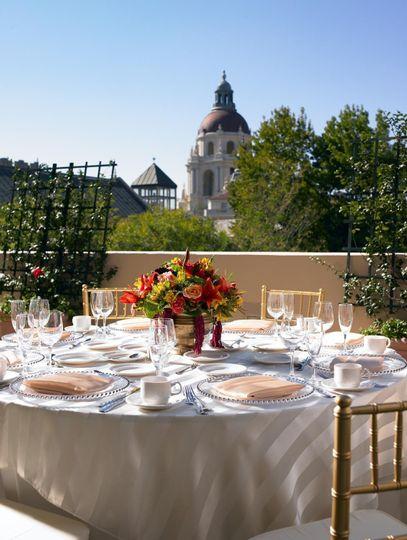 terrace setting