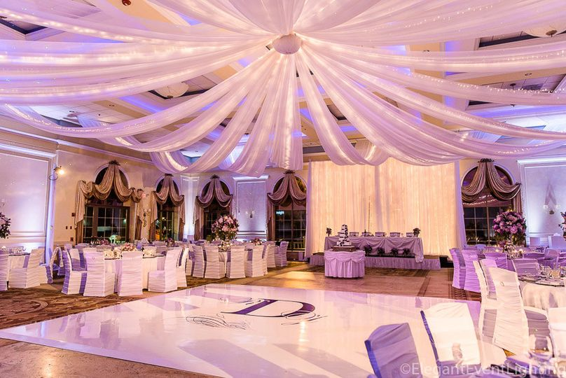 Fairy Light Ceiling Draping
