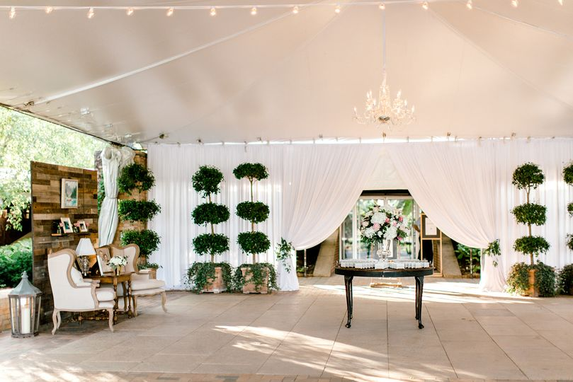 Draping and Chandeliers