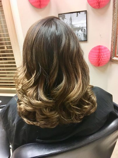Ombre haircolor with Layers