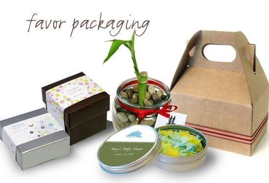 Favor Packaging Ideas