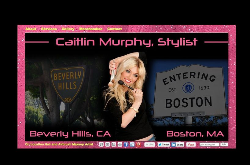 CaitlinMurphyStylist.com Main Page. Traveling between Beverly Hills, Boston, and New York City.