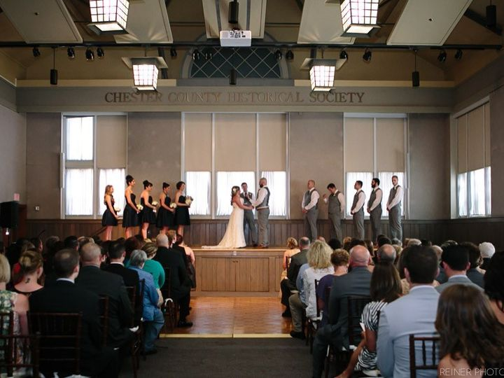 Tmx 1416934449255 Auditorium Ceremony   Bridal Party On Stage West Chester, PA wedding venue
