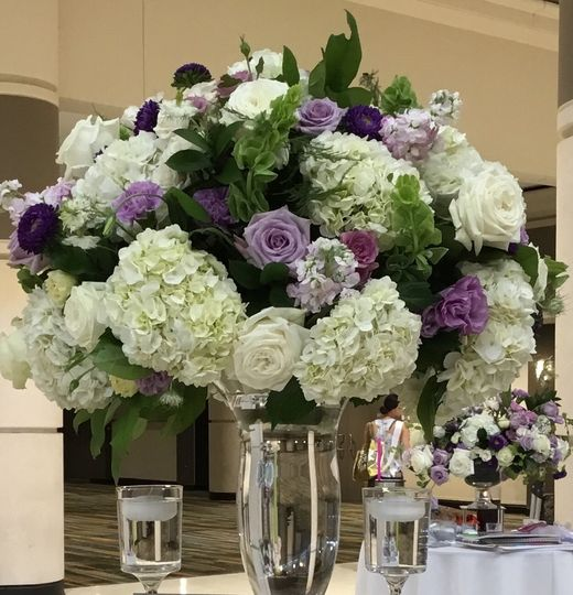Luxury lavender and white