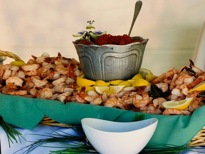 Shrimp cocktail buffet