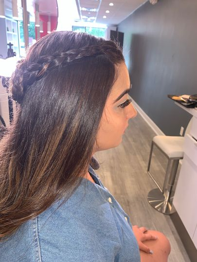 Red carpet with braid