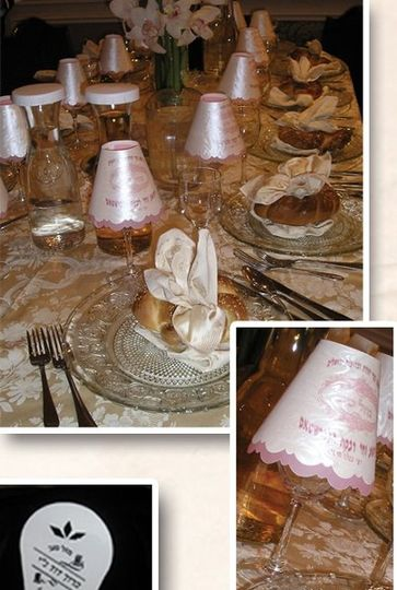 Put these exquisite lampshades over your glasses at the Wedding/Sheva Brachos, to add a...