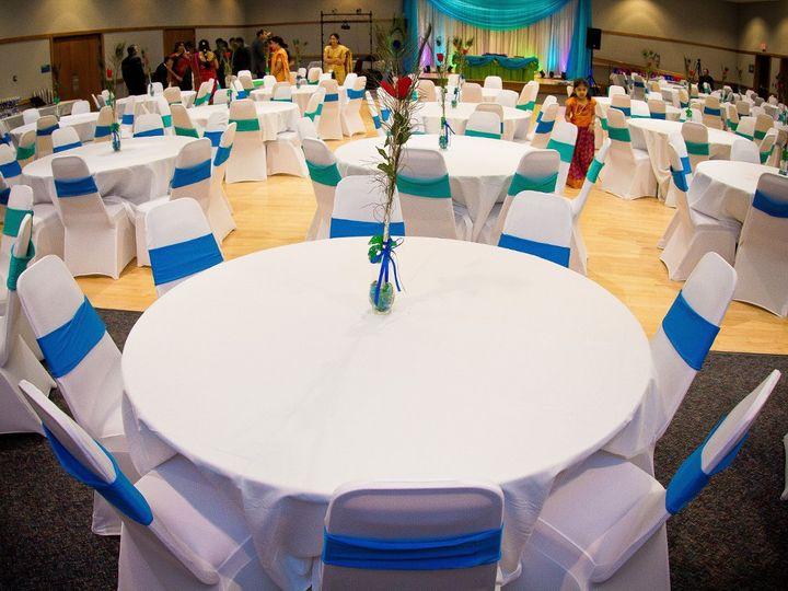 Tmx 1360023716377 WhiteSpandexChairCoverwithAquaandTurquoiseSpandexSashandBlingCuff Monticello wedding rental