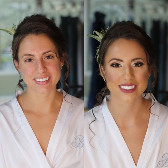 Before and after the look