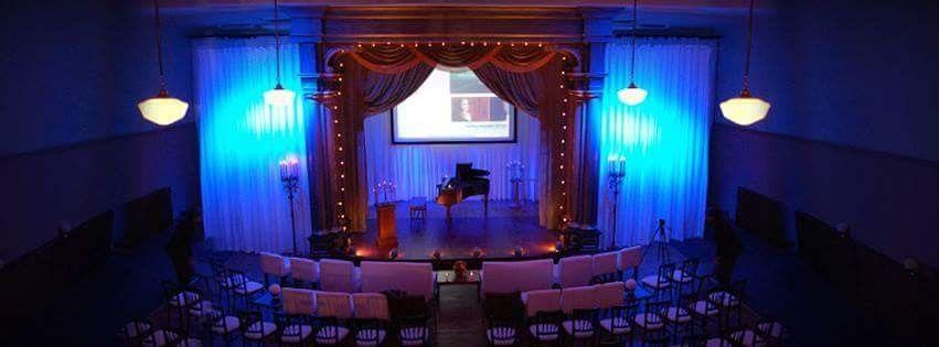 Blue stage lighting