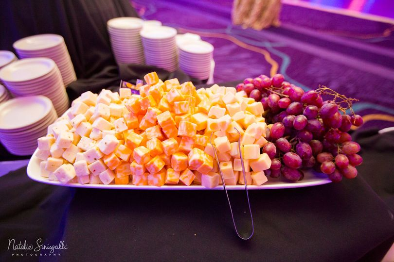 Cheese and grape plate