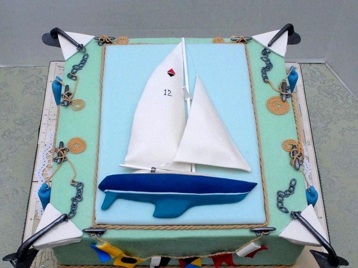 Tmx 1357915853541 SailboatFrontOn Manchester, Massachusetts wedding cake