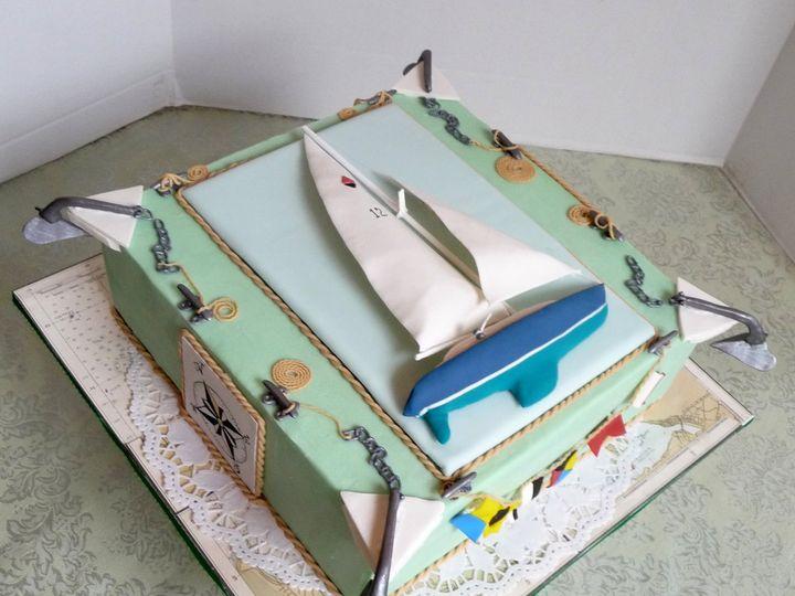 Tmx 1357915933693 SailboatAngle Manchester, Massachusetts wedding cake