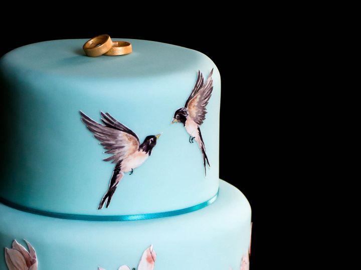 Tmx 1433801474522 Birdsandmagnoliasbridalshower Manchester, Massachusetts wedding cake