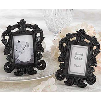 Black baoque frame wedding favor