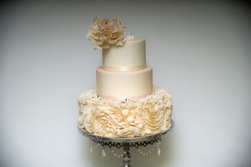 Three Tier Floral Cake