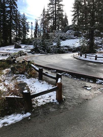 Entrance to Glacier Point, Yosemite National Park, CA