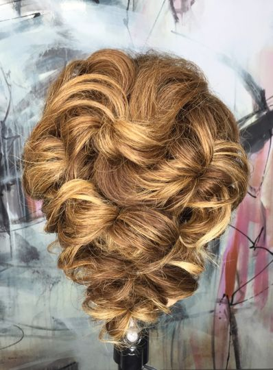 Updo and highlights