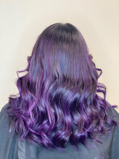 Violet fantasy ombre