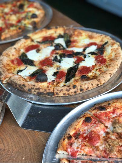 Closeup of pizza