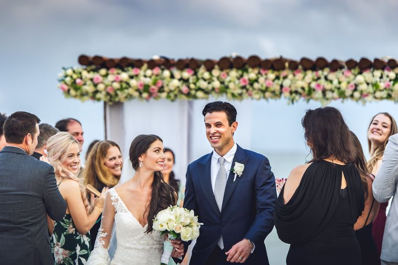 wedding cancun beach ceremony recessional