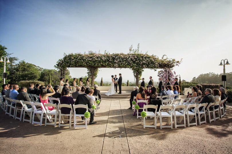Courtyard Terrace Ceremony