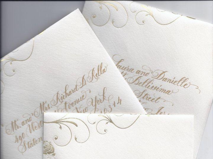 Tmx 1357181677243 Seidner6frielenvelopes Slingerlands wedding invitation