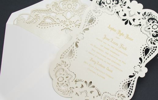 laser etched invite from jan banner