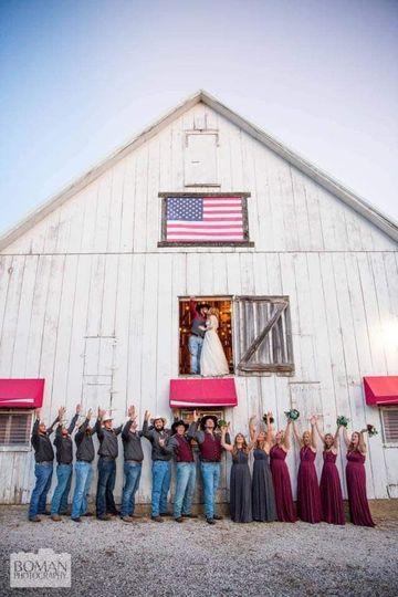 The barn exterior