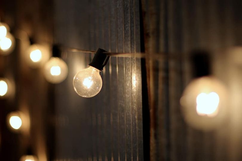 Rustic string lighting