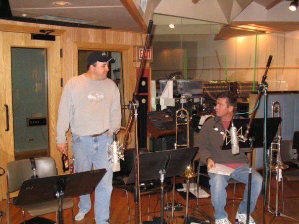 Recording at CRC Studios in Chicago.