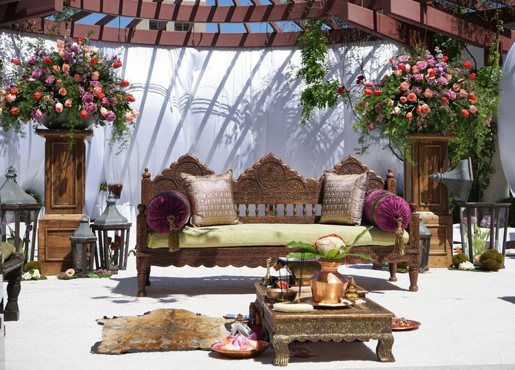Risha & Mac's Wedding Ceremony Setup on The NOOR Terrace