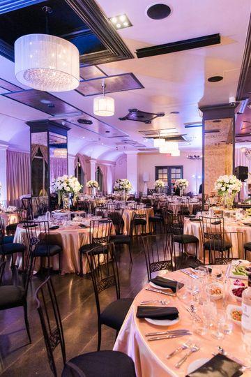 Ali & Shiva's Wedding Reception Setup at NOOR | Sofia Ballroom. Photo Credit: Mink Photography