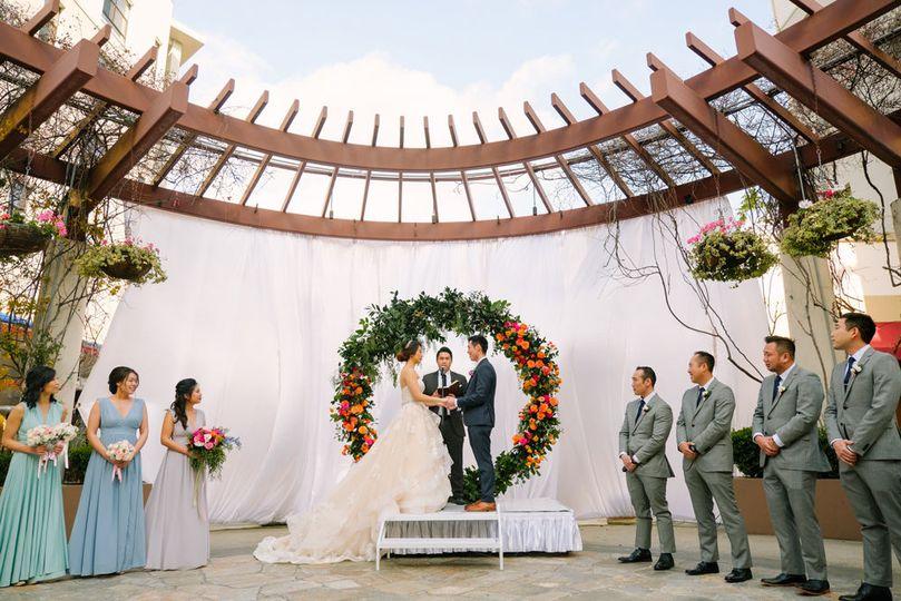 Kristy & Benson's NOOR Terrace Wedding Ceremony. Photo Credit: Cotton Love Studios