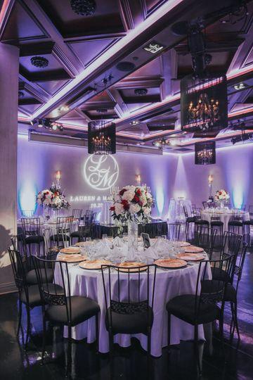 Lauren & Maurice's Wedding Reception Setup at NOOR | Ella Ballroom. Photo Credit: Jenny Smith & Co
