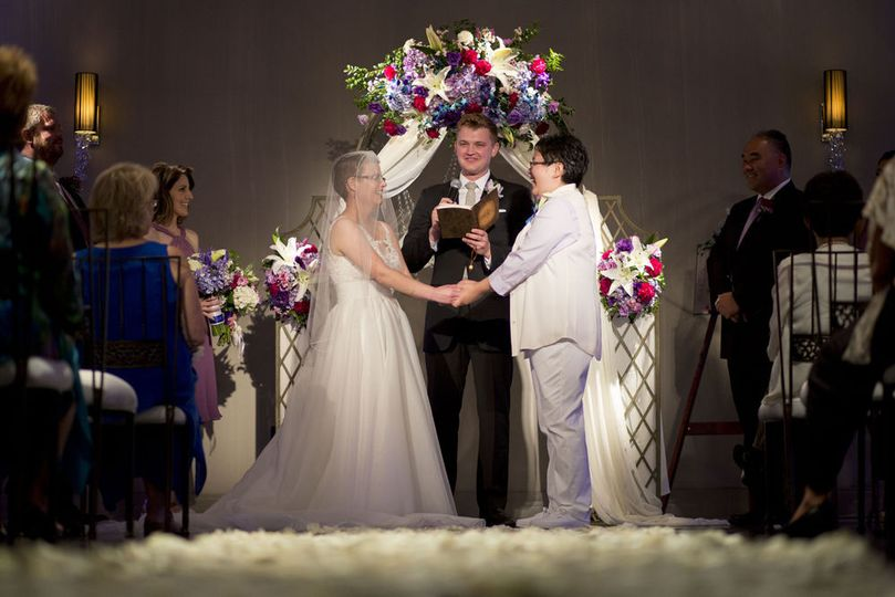 Kristin & Amanda's NOOR | Ella Ballroom Wedding. Photo Credit: Michael Farmer