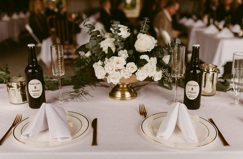 Table settings done by bride