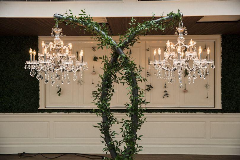 Candlelit chandeliers